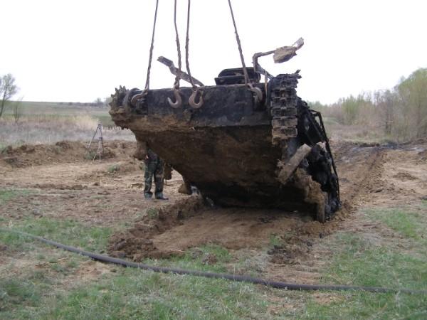 Soviet tank T-60.