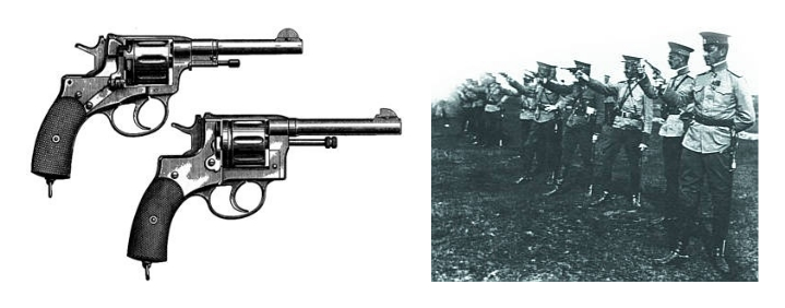 Revolver revolver М1895 in service with the Red Army