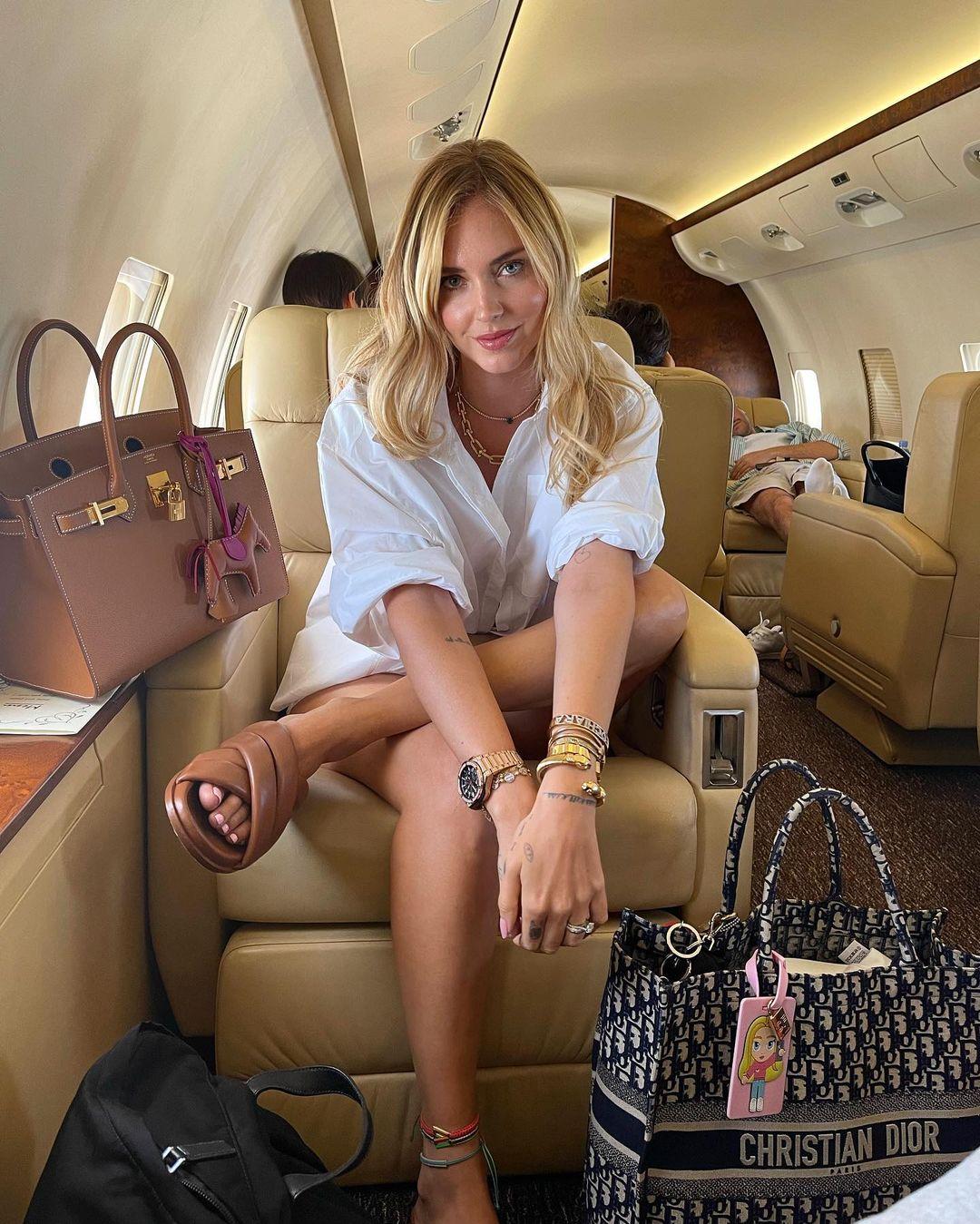 Chiara Ferragni, polemica social per il jet privato