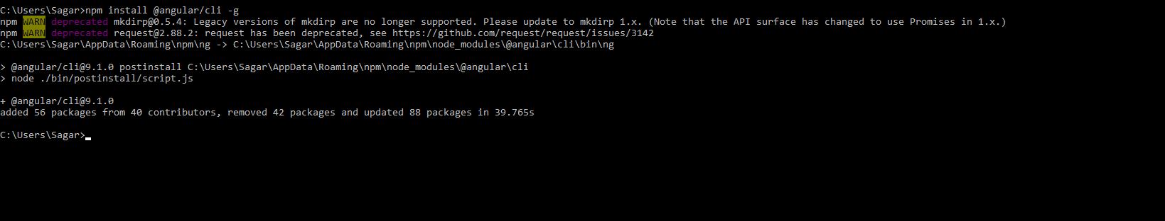 angular cli install globally