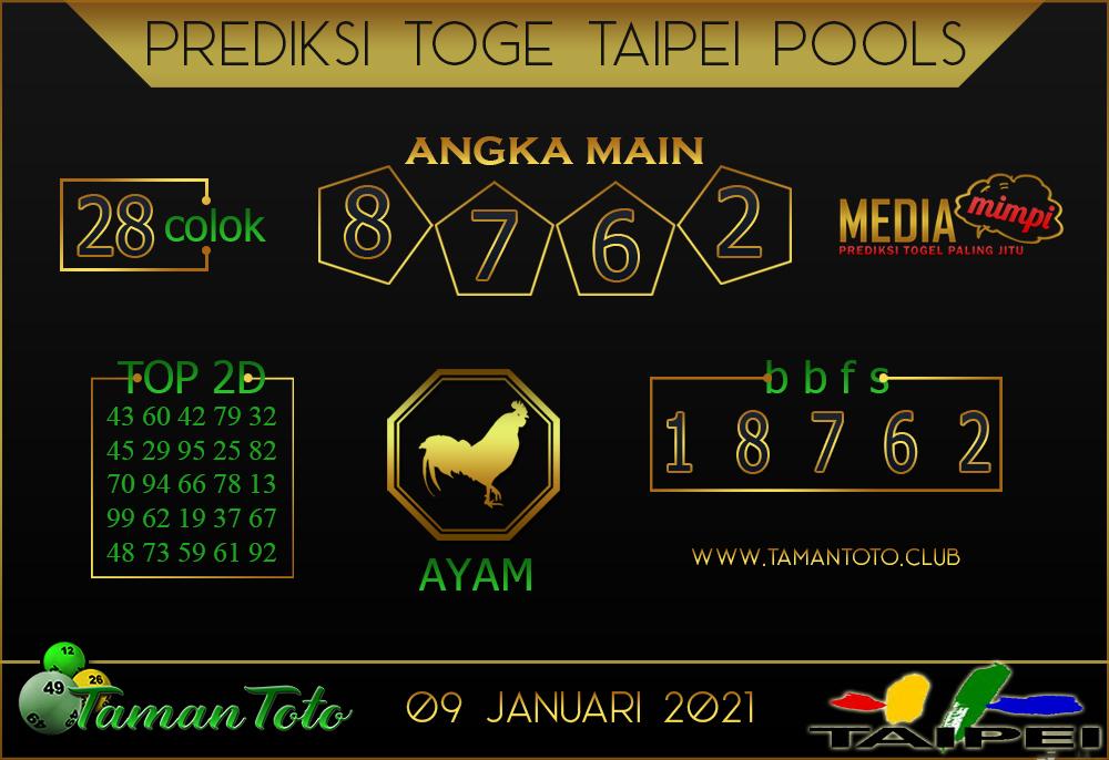 Prediksi Togel TAIPEI TAMAN TOTO 09 JANUARI 2021
