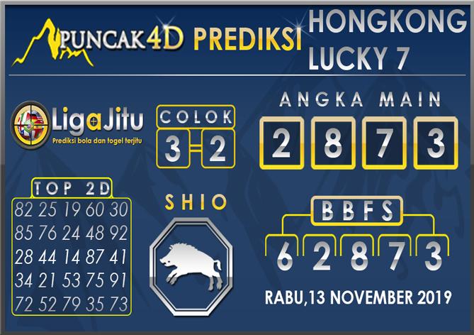 PREDIKSI TOGEL HONGKONG LUCKY7 PUNCAK4D 13 NOVEMBER 2019