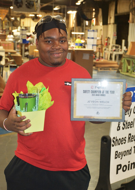 Safety Champion of the Year OSHA Safe Recognition Award 2019 Jeveon
