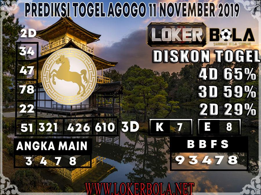 PREDIKSI TOGEL AGOGO LOKERBOLA 11 NOVEMBER 2019