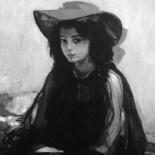 Картина «Дівчина в червоному капелюсі». 1902-1903. О. Мурашко.