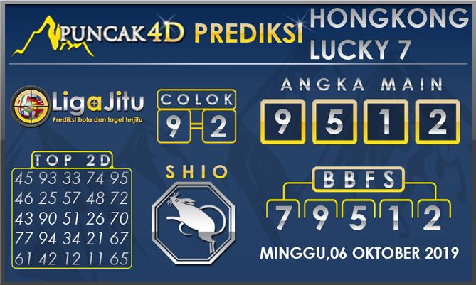 PREDIKSI TOGEL HONGKONG LUCKY7 PUNCAK4D 06 OKTOBER 2019