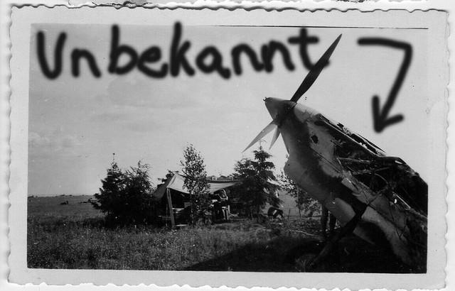 Orig-Foto-Luftwaffe-beute-Flugzeug-unbekannt