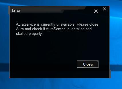 Aura-Service-Error