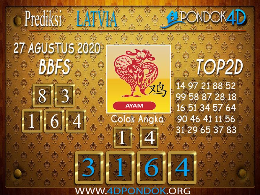 Prediksi Togel LATVIA POOLS PONDOK4D 27 AGUSTUS 2020