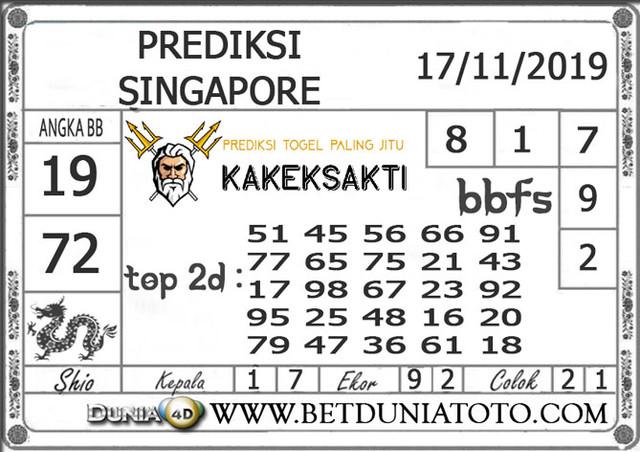 """Prediksi Togel """"SINGAPORE"""" DUNIA4D 17 NOVEMBER 2019"""