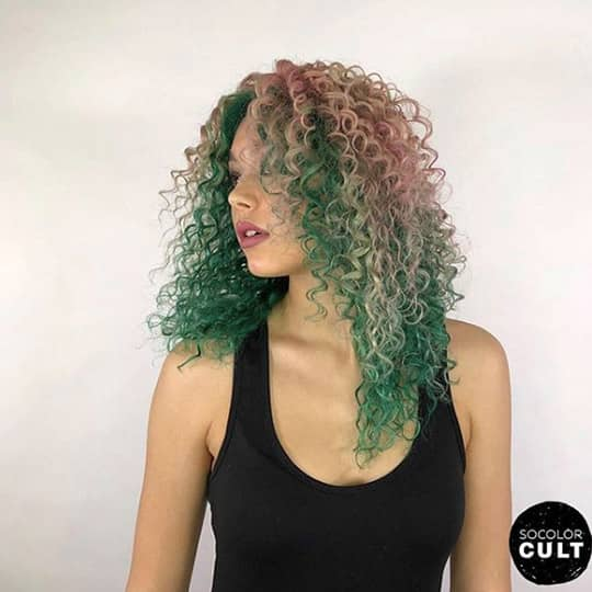 green and red -hair-color