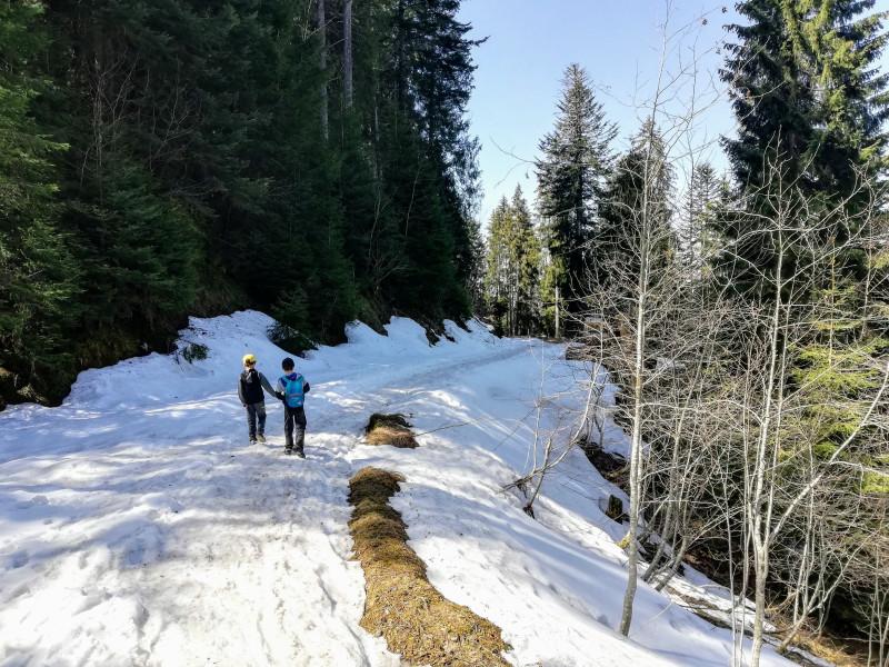 Chit-chatting on snowy terrain