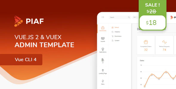 ThemeForest - Piaf v4.0.2 - Vue Admin Template - 23160320