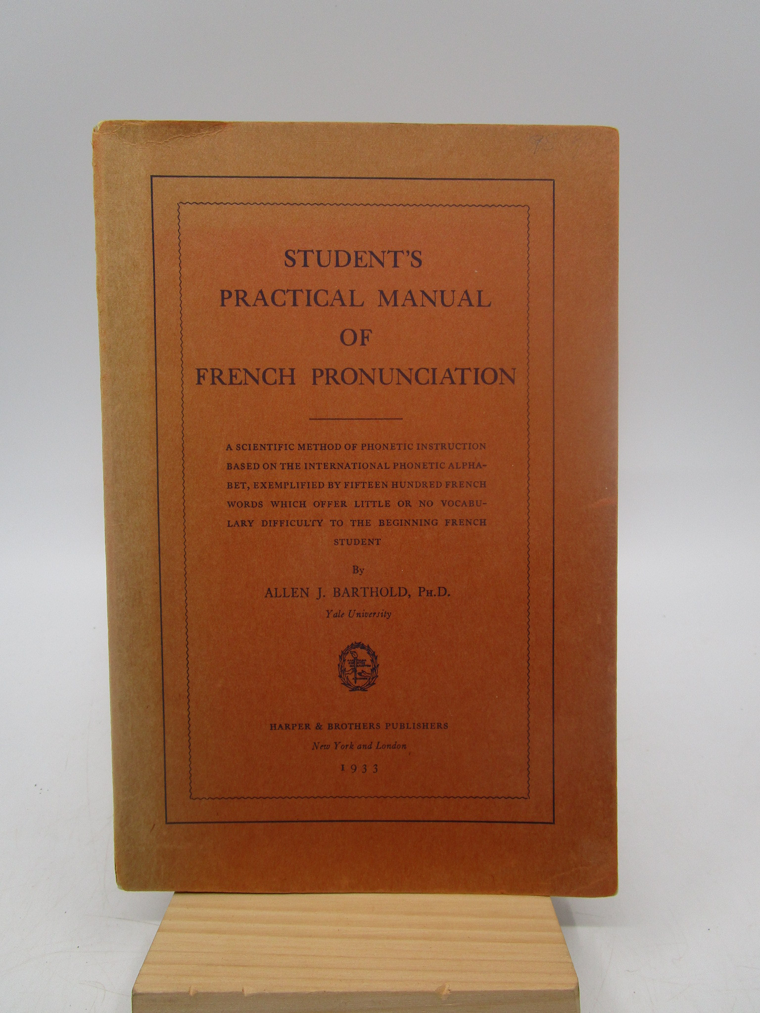 Image for Student's Practical Manual of French Pronunciation (First Edition)