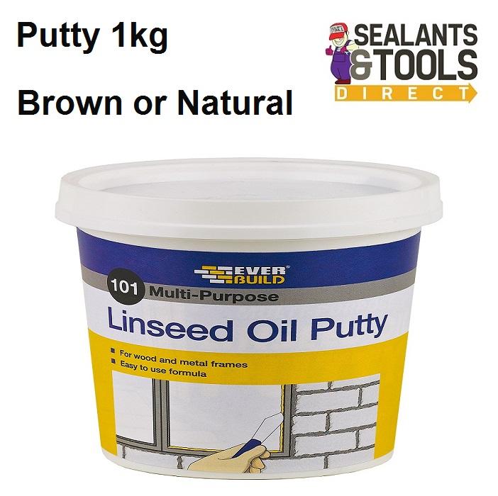 Everbuild 101 Linseed Oil Putty Metal Wood 1kg MPN1 MPBN1