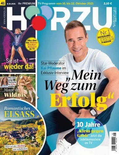 Cover: Hörzu Fernsehzeitschrift No 41 vom 08  Oktober 2021