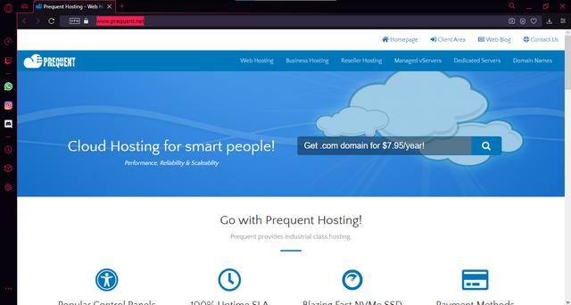 Screenshot of prequent.net