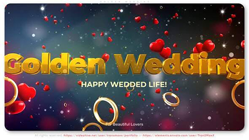 Golden Wedding 30333085 - Project for After Effects (Videohive)