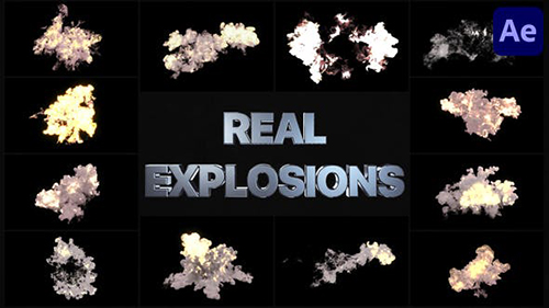 Real Explosions   After Effects 33635582 - Project for After Effects (Videohive)