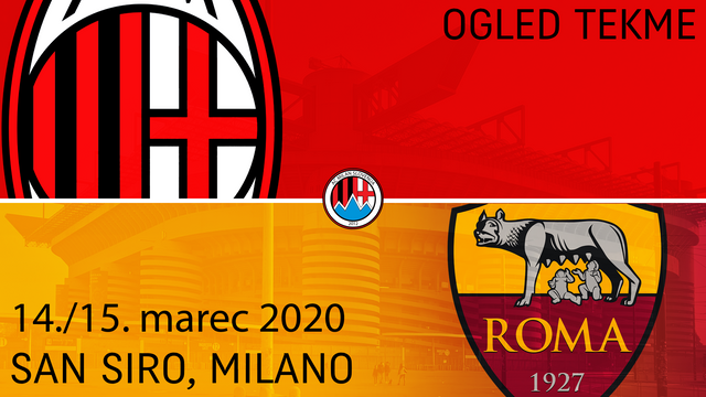 Ogled tekme Milan - roma