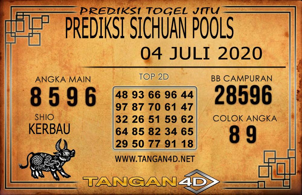 PREDIKSI TOGEL SICHUAN TANGAN4D 04 JULI 2020