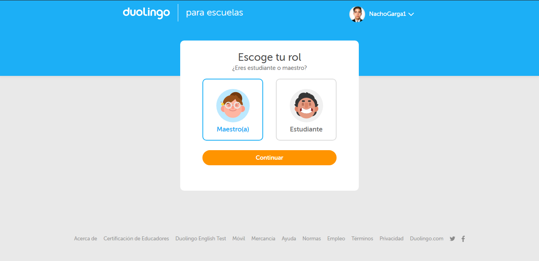 Si eres profesor, podrás optar por Duolingo para escuelas Puedes impartir al descargar para iOS, PC o la APK para Android.