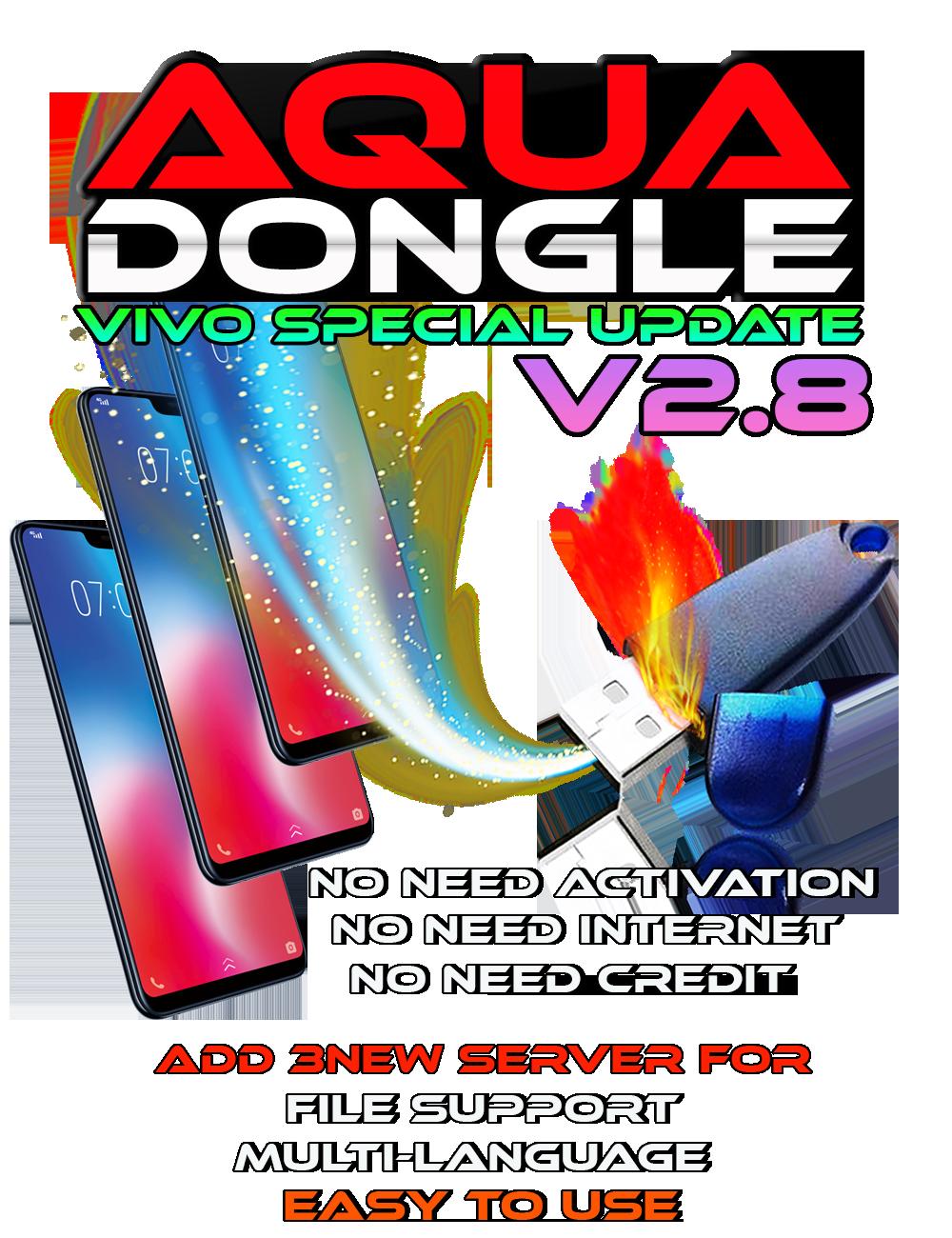 AQUA Dongle All Module V2.8 Vivo MTK Exclusive, Main MTK & Qualcomm Update 22-07-2020