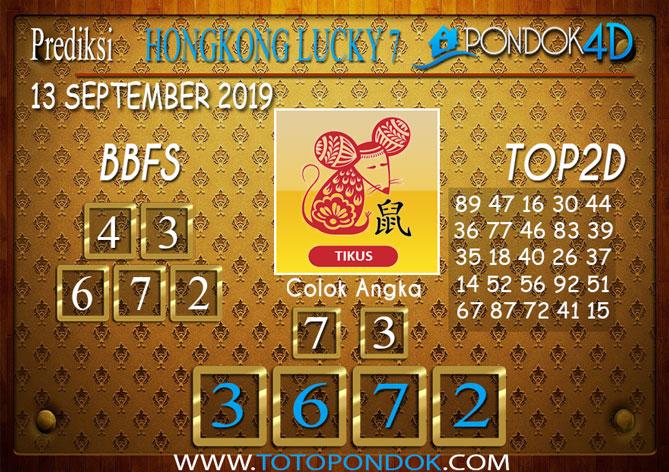 Prediksi Togel HONGKONG LUCKY 7 PONDOK4D 13 SEPTEMBER 2019