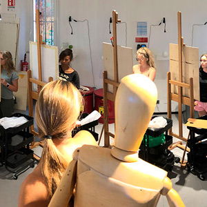 students of the BA in Fine Arts - painting and drawing in Rome, Italy
