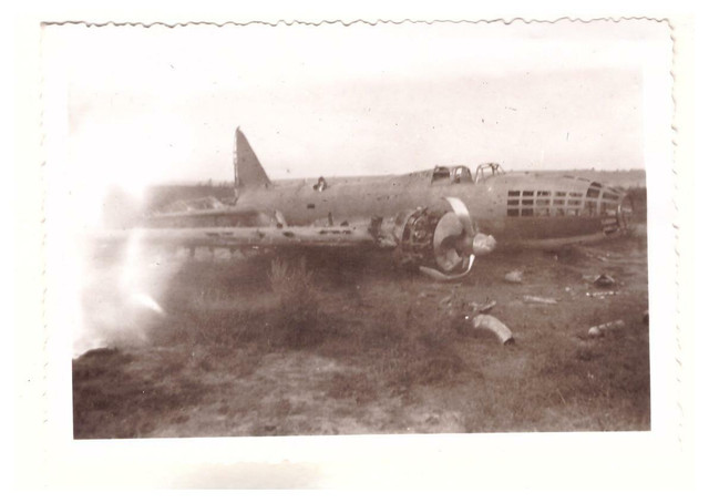 Foto-2-WK-Abgest-rztes-Kampf-Flugzeug-9