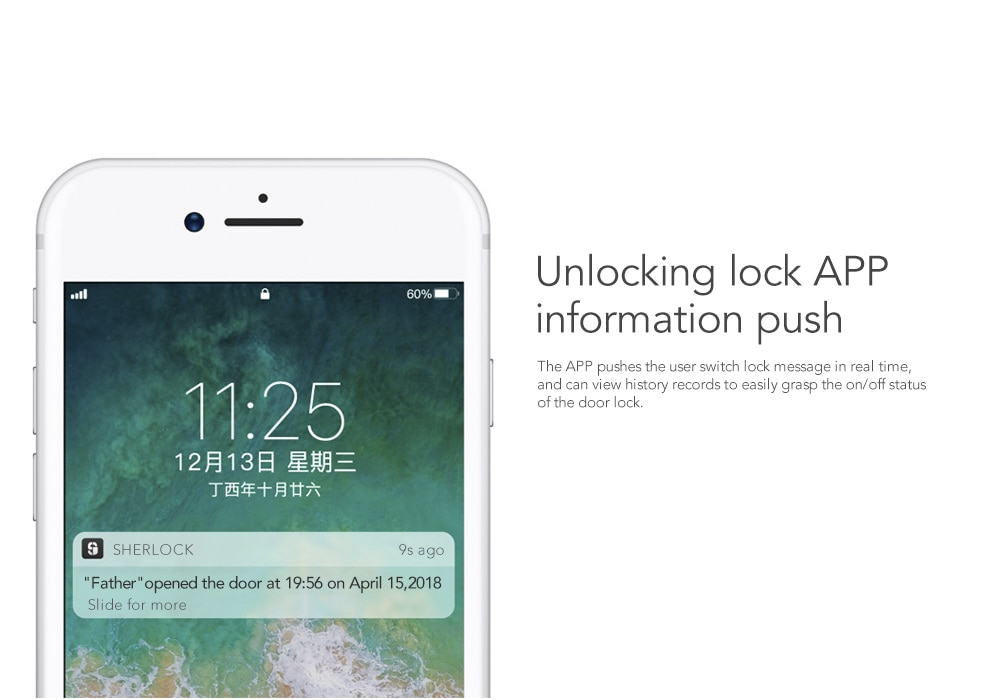Details about Xiaomi Sherlock Smart Lock S2 Mijia Door Lock Keyless  Fingerprint Password Work