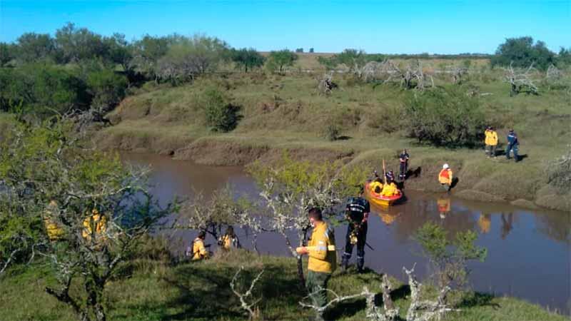 Intensa búsqueda de joven que cayó en Arroyo Yerua : «La angustia crece, no tenemos novedades»
