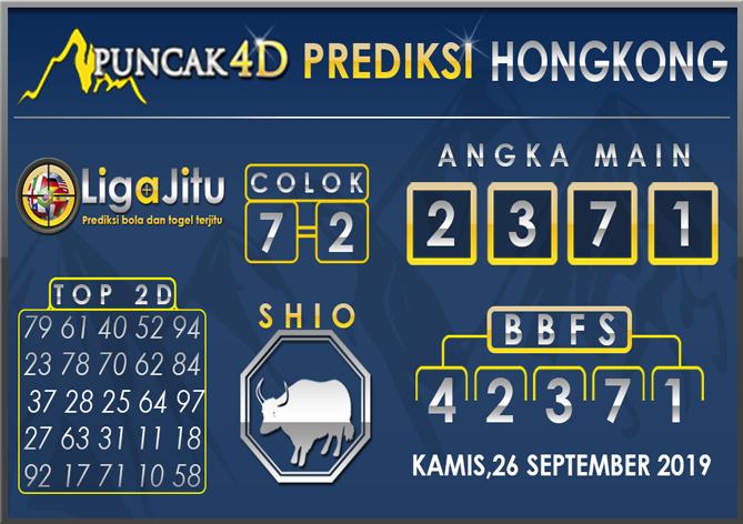 PREDIKSI TOGEL HONGKONG PUNCAK4D 26 SEPTEMBER 2019