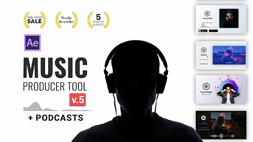Audio Visualization // Music Producer Tool V5 24314482 - Project for After Effects (Videohive)