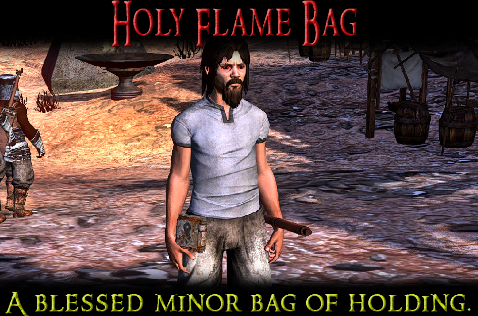 The Holy Flame Bag - A Blessed Minor Bag of Holding