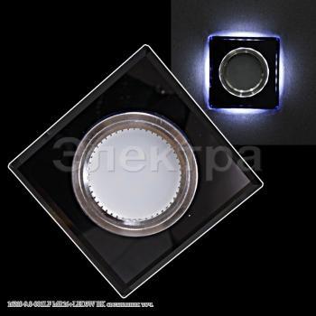 Светильник точечный 16310-9.0-001LF MR16+LED3W BK черный квадр