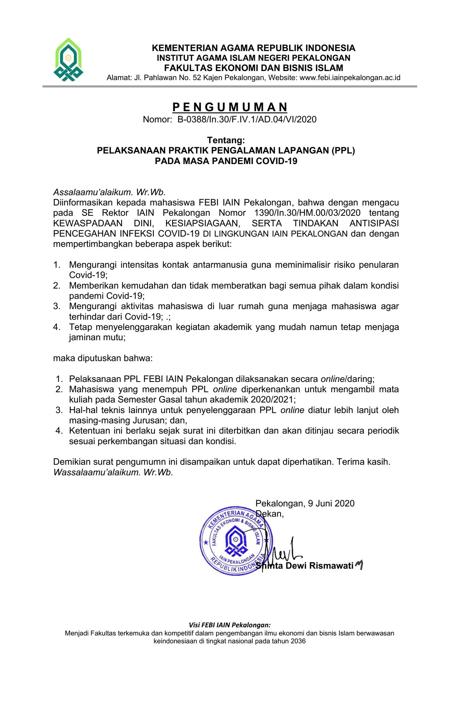 Pengumuman-PPL-covid19