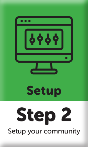 button with step 2 set up