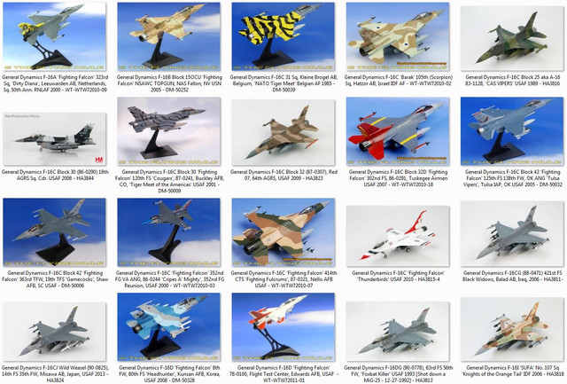 Diecast-F-16-collection