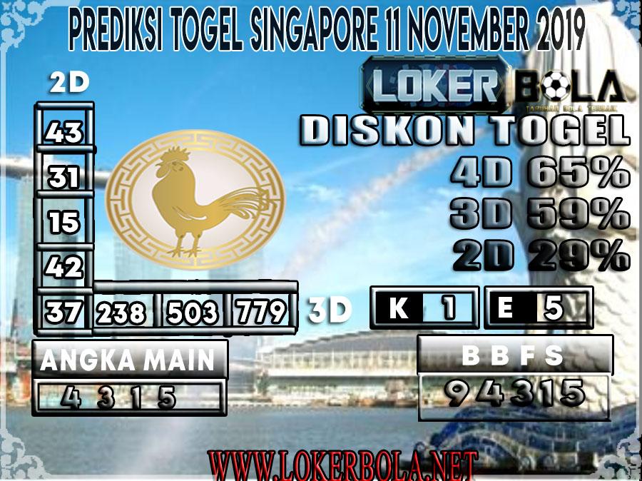 PREDIKSI TOGEL SINGAPORE LOKERBOLA 11 NOVEMBER 2019