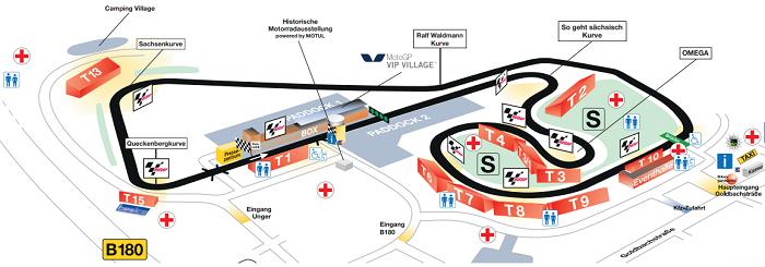Sachsenring plattegrond