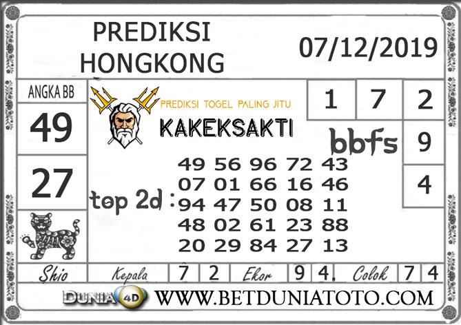 Prediksi Togel HONGKONG DUNIA4D 07 DESEMBER 2019