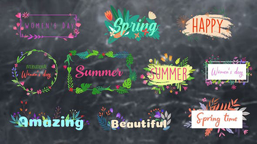 Flower Titles    After Effects 33630471 - Project for After Effects (Videohive)