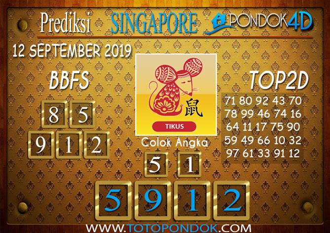Prediksi Togel SINGAPORE PONDOK4D 12 SEPTEMBER 2019