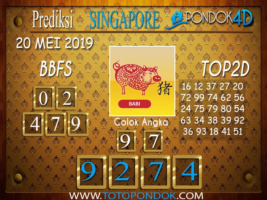 Prediksi Togel SINGAPORE PONDOK4D 20 MEI 2019