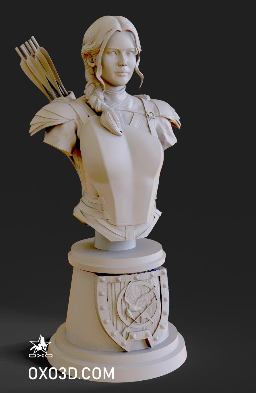 Katniss Everdeen Bust 3D Print STL - Hunger Games Mockingjay