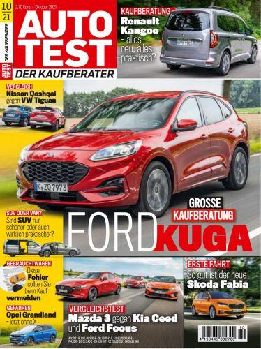Cover: Auto Test Magazin Der Kaufberater Oktober No 10 2021