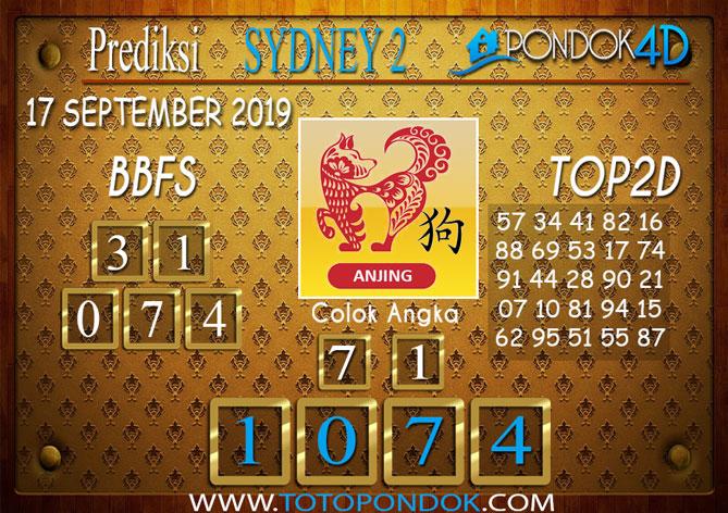 Prediksi Togel SYDNEY 2 PONDOK4D 17 SEPTEMBER 2019