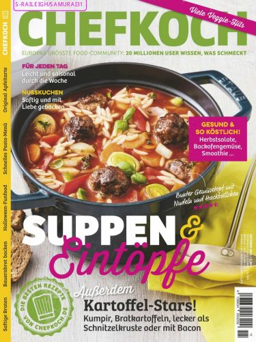 Cover: Chefkoch Magazin Oktober No 10 2021