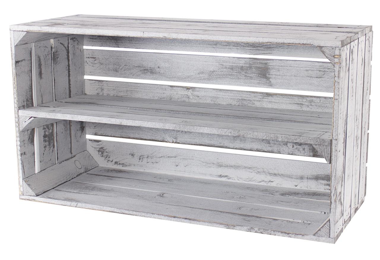 Kolonialladen Set 3 Tafel Holzkisten Vintage Aufbewahrungsbox Shabby Chic